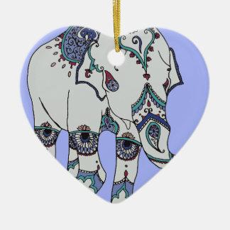 Ornamento De Cerâmica Elefante de Boho da serenidade