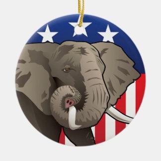 Ornamento De Cerâmica Elefante dos EUA