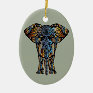 Ornamento De Cerâmica Elefante indiano