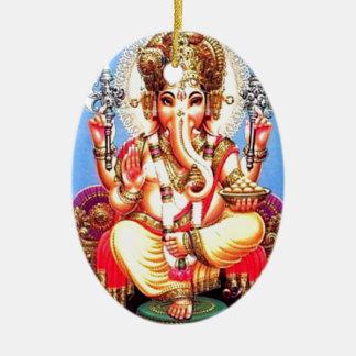 Ornamento De Cerâmica Elefante indiano de Ganesha (गणेश)