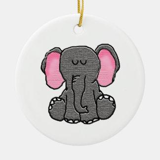 Ornamento De Cerâmica Elefante sonolento
