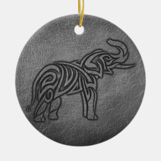 Ornamento De Cerâmica Elefante tribal de couro