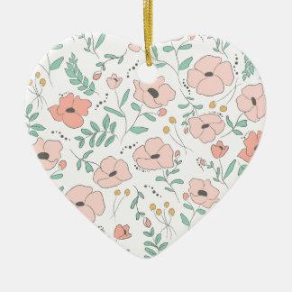 Ornamento De Cerâmica Elegant seamless pattern with flowers, vector illu