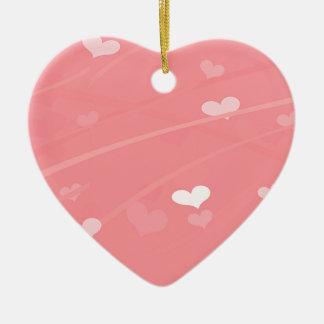 Ornamento De Cerâmica Elegante, coração, tiras