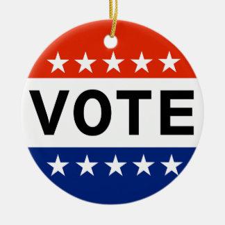 Ornamento De Cerâmica Eleições Midterm do voto 2018