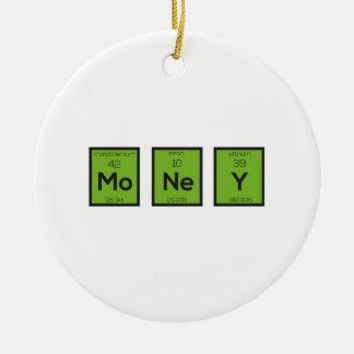 Ornamento De Cerâmica Elemento químico Z3z08 engraçado do dinheiro