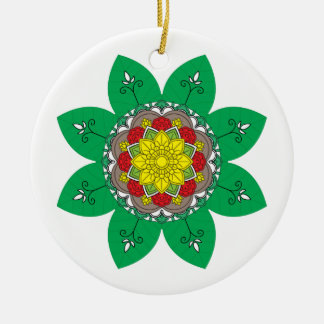 Ornamento De Cerâmica Elementos decorativos do vintage do verde da
