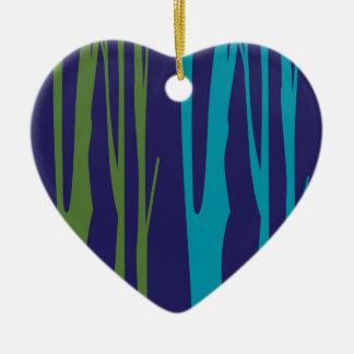 Ornamento De Cerâmica Elementos do azul das árvores do DESIGN