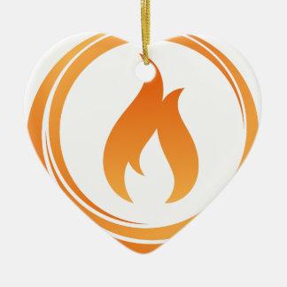 Ornamento De Cerâmica Elementos do fogo