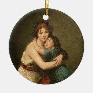 Ornamento De Cerâmica Elisabeth e sua filha