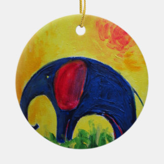 Ornamento De Cerâmica Elly azul