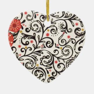 Ornamento De Cerâmica Elogio elegante do feriado