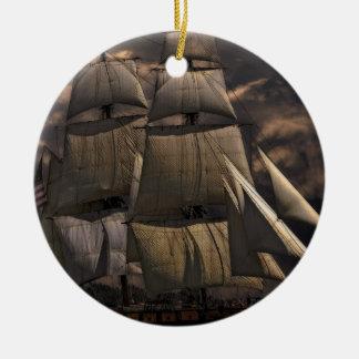 Ornamento De Cerâmica Embarcação do navio de navigação