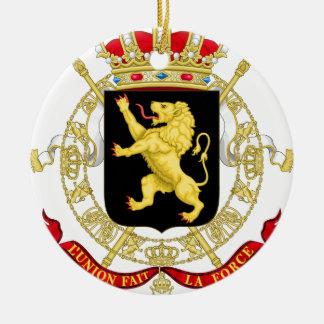 Ornamento De Cerâmica Emblema belga - brasão de Bélgica