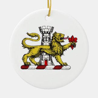 Ornamento De Cerâmica Emblema C da crista da flor de lis da torre do
