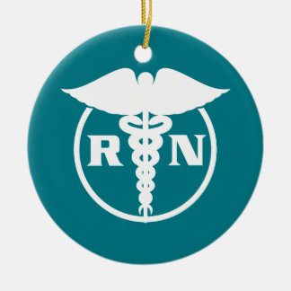 Ornamento De Cerâmica Emblema da enfermeira diplomada