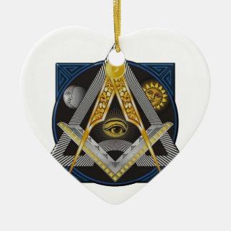 Ornamento De Cerâmica Emblema da maçonaria