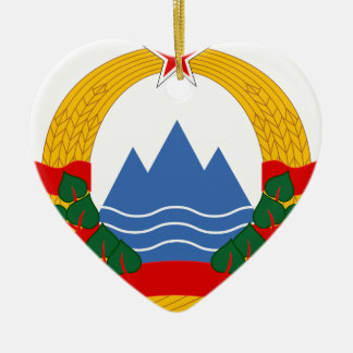 Ornamento De Cerâmica Emblema da república socialista de Slovenia