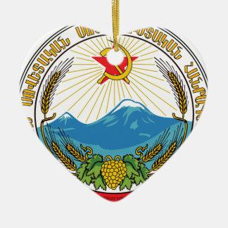 Ornamento De Cerâmica Emblema da república socialista soviética arménia