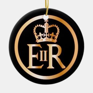 Ornamento De Cerâmica Emblema do reino de Elizabeth