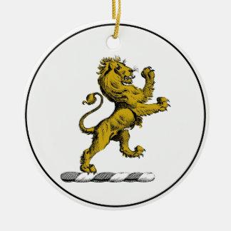Ornamento De Cerâmica Emblema ereto C da crista do leão heráldico