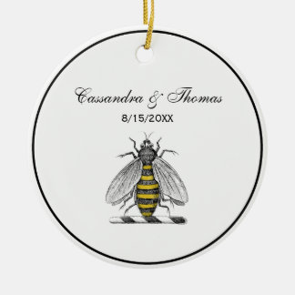 Ornamento De Cerâmica Emblema heráldico formal C da brasão da abelha do