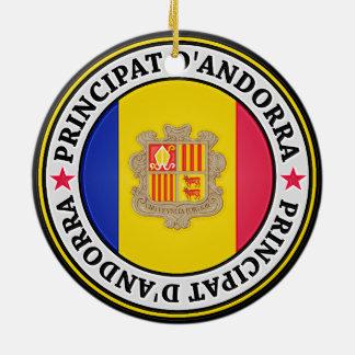 Ornamento De Cerâmica Emblema redondo de Andorra