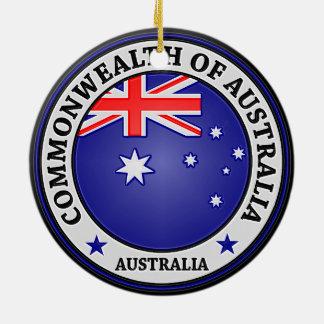 Ornamento De Cerâmica Emblema redondo de Austrália