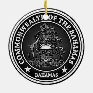 Ornamento De Cerâmica Emblema redondo de Bahamas