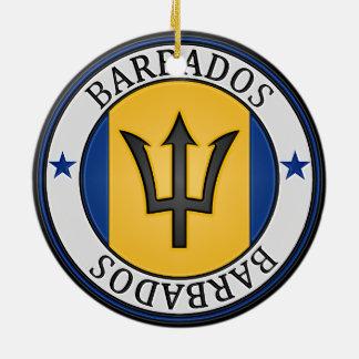 Ornamento De Cerâmica Emblema redondo de Barbados