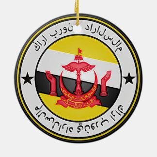 Ornamento De Cerâmica Emblema redondo de Brunei