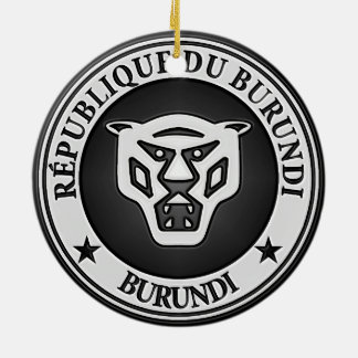 Ornamento De Cerâmica Emblema redondo de Burundi