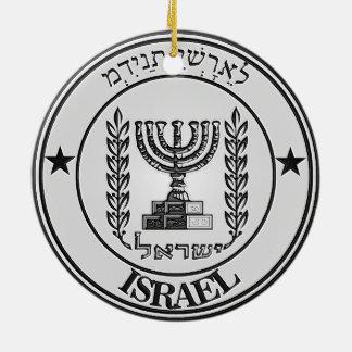 Ornamento De Cerâmica Emblema redondo de Israel