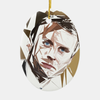 Ornamento De Cerâmica Emmanuel Macron