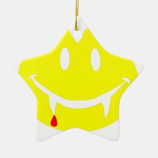 Ornamento De Cerâmica emoji dracula do vampiro