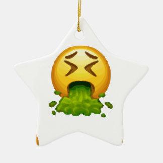 Ornamento De Cerâmica emoji que puking