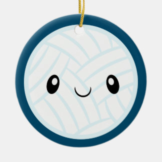 Ornamento De Cerâmica Emoji Volleyabll