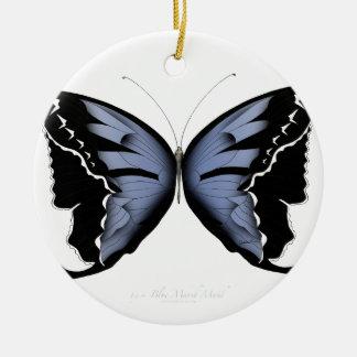 Ornamento De Cerâmica Empregada doméstica azul do pântano do azul da