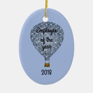 Ornamento De Cerâmica Empregado do balão do prêmio do reconhecimento do