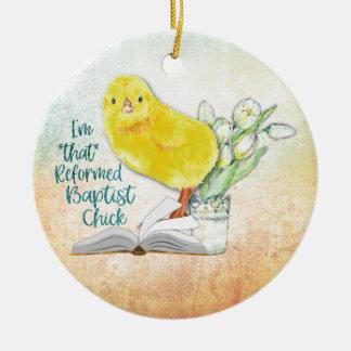 """Ornamento De Cerâmica """"Enfeites de natal do pintinho baptista reformado"""""""