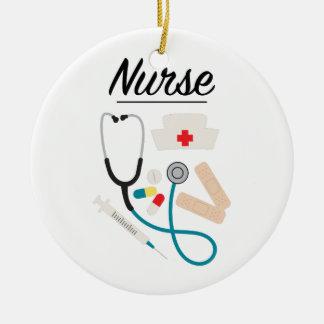 Ornamento De Cerâmica Enfermeira