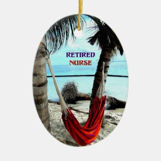 Ornamento De Cerâmica Enfermeira aposentada - Hammock na praia