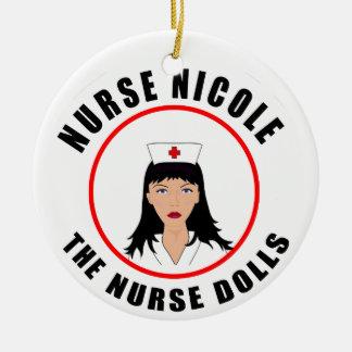 Ornamento De Cerâmica Enfermeira de Nicole