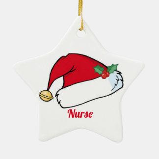 Ornamento De Cerâmica Enfermeira do Natal