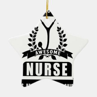 Ornamento De Cerâmica enfermeira e pai