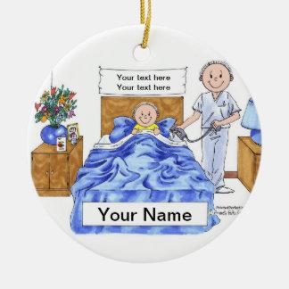 Ornamento De Cerâmica Enfermeira - homem