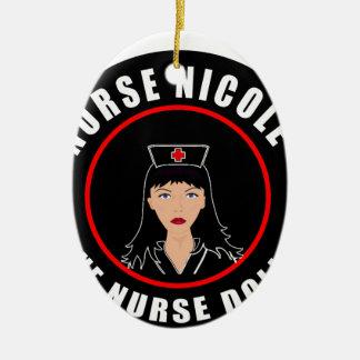 Ornamento De Cerâmica Enfermeira Nicole