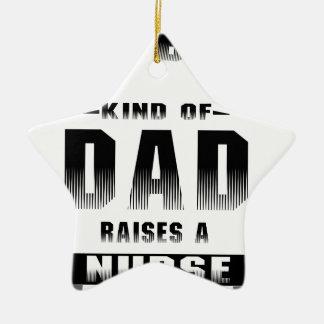 Ornamento De Cerâmica Enfermeira, o melhor tipo do pai