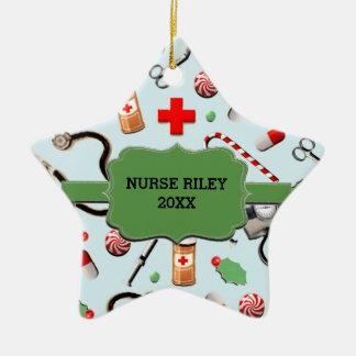 Ornamento De Cerâmica Enfermeira personalizada Collectible