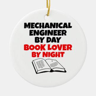 Ornamento De Cerâmica Engenheiro mecânico do amante de livro